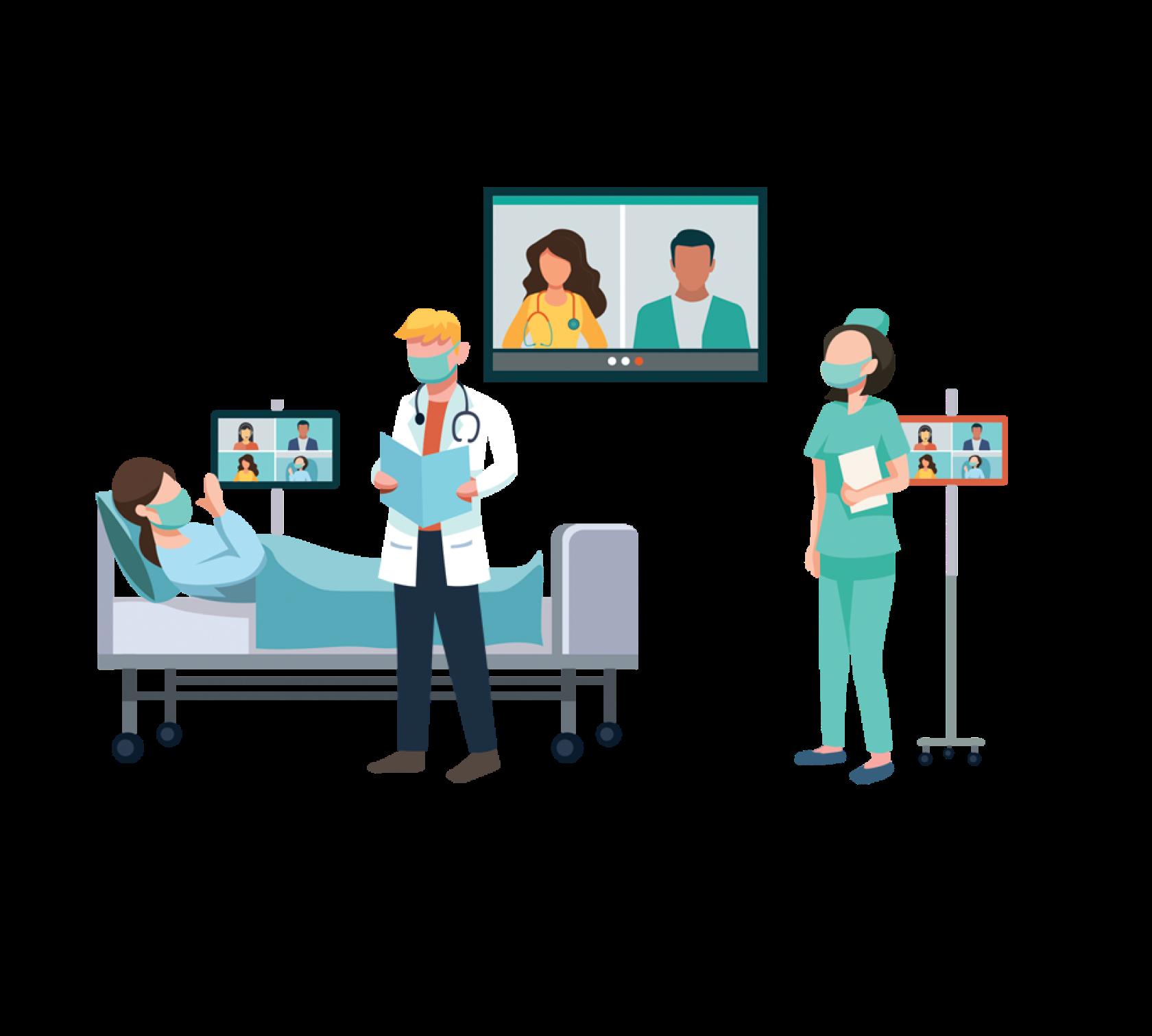 future inpatient care room illustration